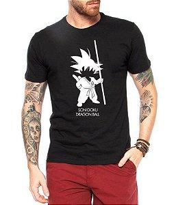Camiseta Masculina Preta - Goku Dragonball Desenho