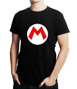Camiseta Masculina Preta - Mario Bross