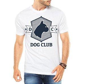 Camiseta Masculina Branca - Dog Club