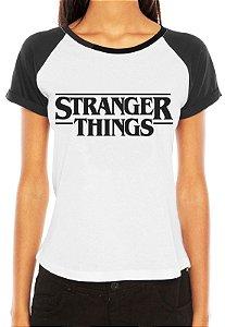 Camiseta Feminina Raglan Branca - Stranger Things