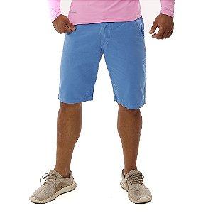 Bermuda Masculina Barata Colorida Brim Sarja Azul Claro