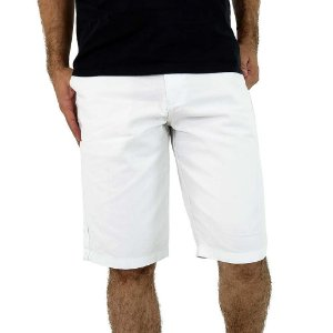 Bermuda Branca Masculina de Sarja Bamborra