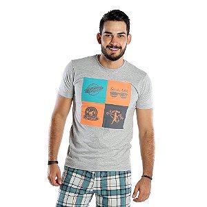 Camiseta Estampada Masculina Cinza Bamborra Surf