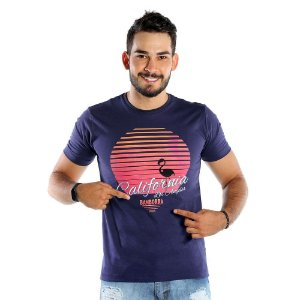 Camiseta Estampada Masculina California Azul Marinho