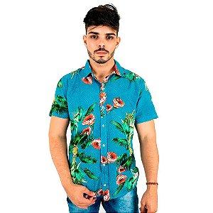 Camisa de Viscose Masculina Florida Tropical Bamborra