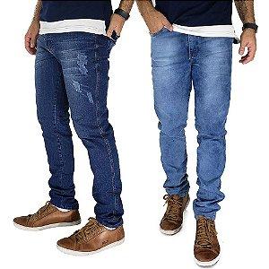 Kit com 2 Calças Jeans Masculinas Slim Bamborra Denim