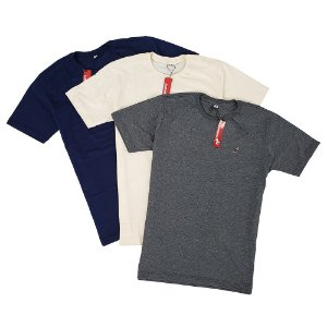 Kit Com 3 Camisetas Masculinas Básicas de Algodão Bamborra