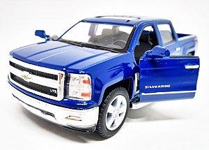 Chevrolet Silverado Azul - Escala 1/46 13 CM