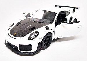 Porsche 911 GT2 RS Branco - Escala 1/36 12 CM