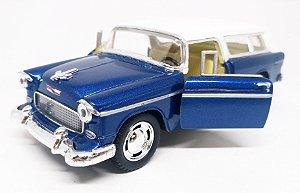 Chevrolet Chevy Nomad 1955 Azul - Escala 1/40 12 CM