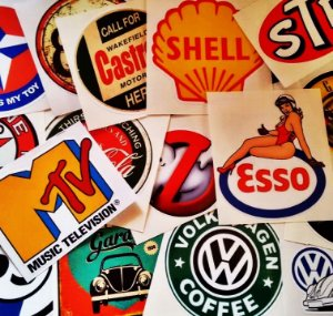 Adesivos Vintage - Retrô -  500 MODELOS