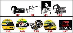 Adesivos Ayrton Senna - F1