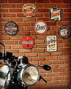 Placas Decorativas Vintage - Retrô 25x25 em MDF
