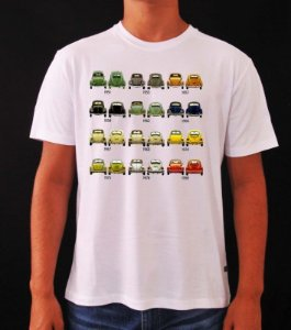 Camiseta Volkswagen Fusca - Cronologia