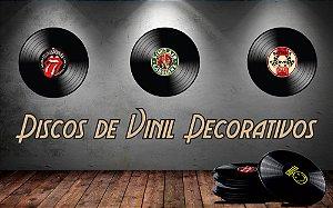 Discos de Vinil Decorativos - Vintage Retrô 25x25