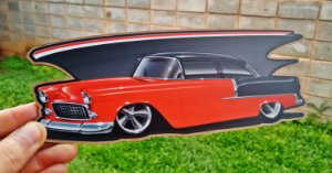Placa Decorativa Chevrolet Bel Air