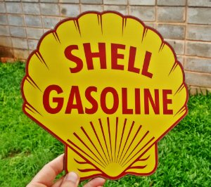 Placa Decorativa Shell Gasoline