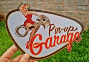 Placa Decorativa Pin up Garage