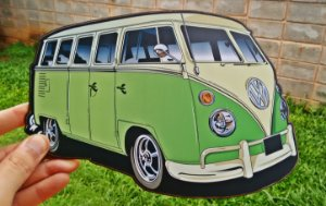 Placa Decorativa Volkswagen Kombi