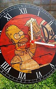 Relógio de Parede Homer Simpson Duff - Com Pilha