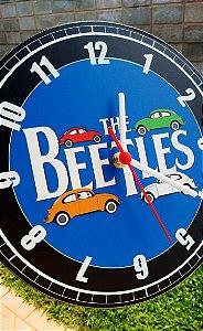 Relógio de Parede Fusca The Beetles - Com Pilha