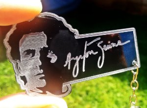 Chaveiro Ayrton Senna Acrílico