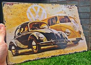 Placa Decorativa Volkswagen Fusca / Kombi 20x30 em Metal