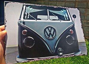 Placa Decorativa Volkswagen Kombi 20x30 em Metal