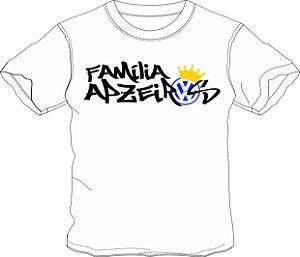 Camiseta Família Apzeiros Branca Personalizada com seu NOME e CARRO