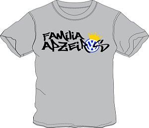 Camiseta Família Apzeiros Cinza Personalizada com seu NOME e CARRO