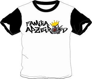 Camiseta Família Apzeiros Turbo Branca/Preta Personalizada com seu NOME e CARRO