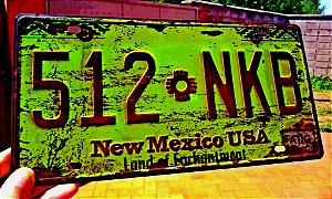 Placa Decorativa New Mexico em Metal