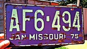 Placa Decorativa Jan Missouri em Metal