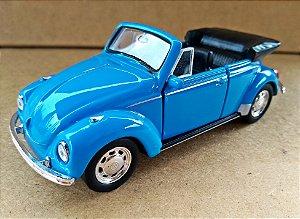 Volkswagen Fusca Azul Conversível - Escala 1/32 - 13 CM