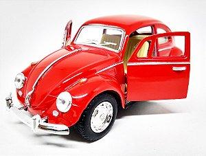 Volkswagen Fusca Vermelho - Escala 1/32 - 13 CM