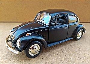Volkswagen Fusca Preto Fosco - Escala 1/32 - 13 CM