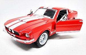 Shelby GT 500 1967 Vermelho - Escala 1/38- 13 CM