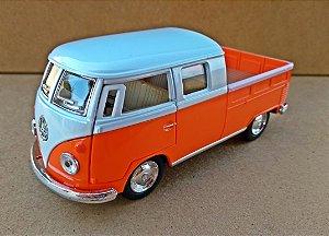 Volkswagen Kombi  Laranja/Branca - Escala 1/32 - 13 CM