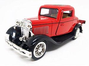 Ford 3 Window 1932 Coupé Vermelho - Escala 1/32 - 12 CM