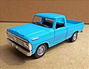 Ford F100 1968 Azul - Escala 1/43 11 CM