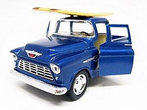 Chevy Stepside 3100  Pickup 1955 Azul - Escala 1/38 12 CM
