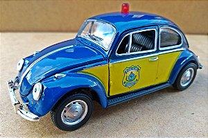 Volkswagen Fusca Polícia Rodoviária - Escala 1/32 - 12 CM