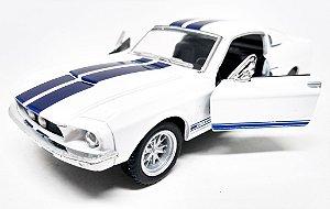 Shelby GT 500 1967 Branco - Escala 1/38- 13 CM