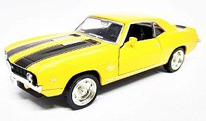 Chevrolet Camaro SS 1969 Amarelo- Escala 1/38 - 12 CM