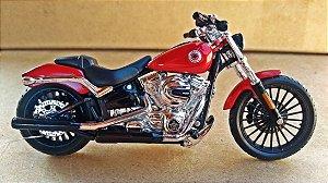 Harley Davidson Breakout 2016 Vermelha - ESCALA 1/18 - 12 CM
