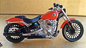 Harley Davidson Breakout 2016 Laranja - ESCALA 1/18 - 12 CM