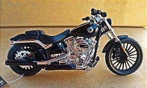 Harley Davidson Breakout 2016 (Preta) - ESCALA 1/18 - 12 CM