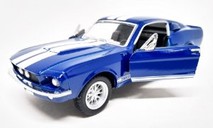 Shelby GT 500 1967 Azul - Escala 1/38- 13 CM