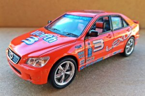 Lexus IS300 Racing - Escala 1/36 -12 CM