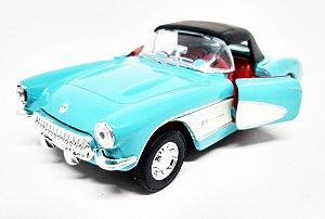 Chevrolet Corvette 1957 Azul - Escala 1/34 - 12 CM